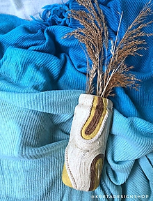 """Dekorácie - """"Cronis"""" recyklovaná váza - 11412197_"""