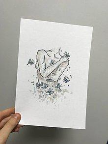Obrazy - mám motýle v bruchu - 11412035_