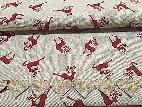 Úžitkový textil - obrus jeleni - 11411866_