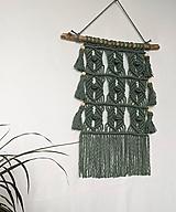 Dekorácie - Macramé Boho dekorácia v eukalyptovej farbe - 11411301_