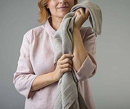 Úžitkový textil - Ľanová osuška - 11411784_