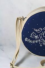 Kabelky - Tina folk modrotlač AM2 krémová - 11411723_