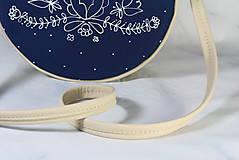 Kabelky - Tina folk modrotlač AM2 krémová - 11411725_