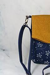 Kabelky - Elen žltá + modrotlač 1 - 11411739_