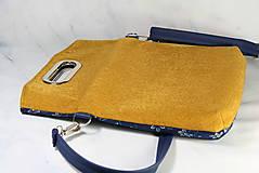 Kabelky - Elen žltá + modrotlač 1 - 11411744_