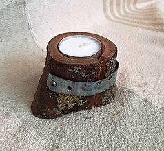 Svietidlá a sviečky - taký malý pníček - 11411971_