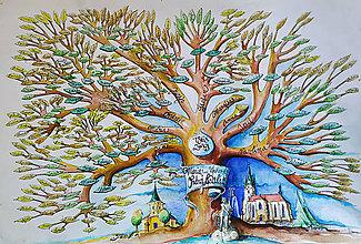 Nezaradené - rodokmeň ,akvarel - 11411563_