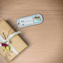 Papiernictvo - Puding(želé?) usmiaty menovka  (mätový) - 11412967_