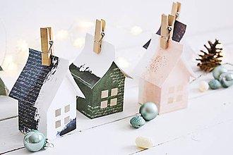 Dekorácie - Zimné domčeky - 11414451_