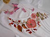 """Tričká - Ručne maľované tričko """" Plané ruže a šípky """"AKCIA - 11415212_"""