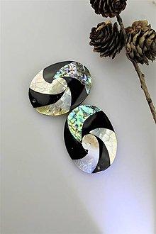 Minerály - perleť korálky - ovál na prívesky 40x50mm - 11413715_