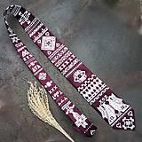 Doplnky - Čičmianska veselosť-  maľovaná kravata - 11414371_