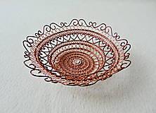 Dekorácie - Drôtená medená miska - 11413611_