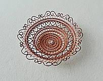 Dekorácie - Drôtená medená miska - 11413614_