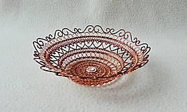 Dekorácie - Drôtená medená miska - 11413617_