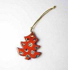 Dekorácie - TANA hand made jewellery - keramika/zlato, vianočné ozdoby - 11414213_