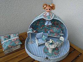 Hračky - Modrý oblý ňuňu kufrík - 11415198_