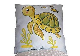 Textil - Vankúšik morský svet Korytnačka - 11415060_