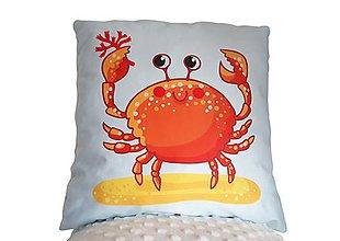Textil - Vankúšik morský svet Krab - 11415062_