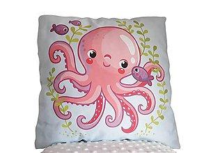 Textil - Vankúšik morský svet Chobotnička - 11415076_