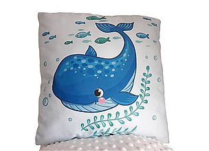 Textil - Vankúšik morský svet Veľryba - 11415080_