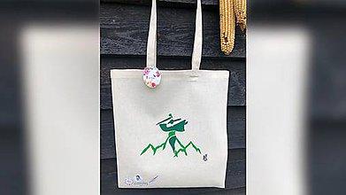 Iné tašky - ♥ Plátená, ručne maľovaná taška ♥ - 11414754_