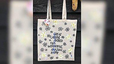 Iné tašky - ♥ Plátená, ručne maľovaná taška ♥ - 11414782_