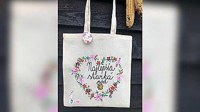 Iné tašky - ♥ Plátená, ručne maľovaná taška ♥ - 11414805_