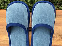 Obuv - Modré denim papuče - 11413604_
