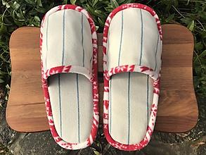 Obuv - Béžové pásikové papuče - 11413557_