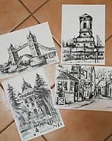 Obrazy - Kresba - moje milované mesto - na želanie - 11415525_