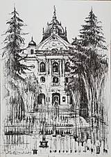 Obrazy - Kresba - moje milované mesto - na želanie - 11415526_