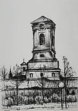 Obrazy - Kresba - moje milované mesto - na želanie - 11415527_