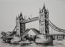 Obrazy - Kresba - moje milované mesto - na želanie - 11415530_