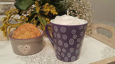 Dekorácie - Cappuccino dekoratívna sviečka - 11414120_