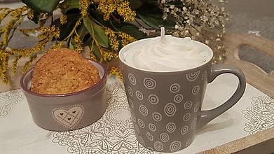 Dekorácie - Cappuccino dekoratívna sviečka - 11414148_
