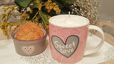Dekorácie - Cappuccino dekoratívna sviečka - 11414155_