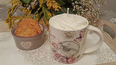 Dekorácie - Cappuccino dekoratívna sviečka - 11414183_