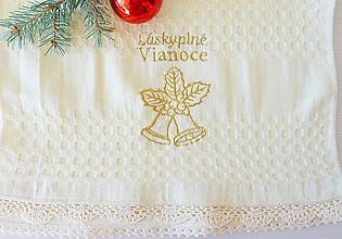 """Úžitkový textil - Utierka """"Láskyplné Vianoce"""" - 11414343_"""