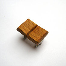 Šperky - Drevené manžetové gombíky - dubové pozdĺžne - 11414739_