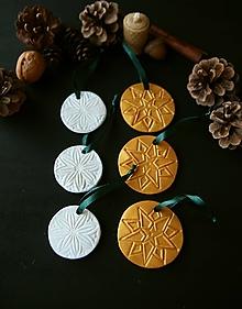 Dekorácie - Vianočný zlatobiely mix - 11416204_