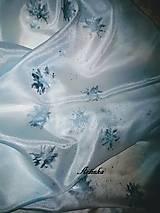 Šály - Šál hodvábny - ice love - 11415848_
