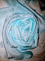 Šály - Šál hodvábny - ice love - 11415850_