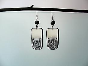 Náušnice - ,,Mliečne špirály,, - 11418085_