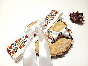 Opasky - Folk opasok lúčne kvety s krajkou ,svadobný / spoločenský /folklórny opasok - 11417793_