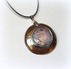 Náhrdelníky - Keramický šperk so sklom - 11417290_
