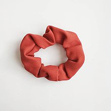 Ozdoby do vlasov - Recy-scrunchie oranžová - 11416208_