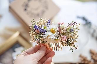 """Ozdoby do vlasov - Kvetinový hrebienok """"vôňa jarnej lúky"""" - 11417236_"""