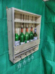 Nábytok - Polička na víno (Polička na víno) - 11417160_