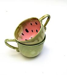 Nádoby - šálka XXL melón  (10 x 5-5,5 cm) - 11416715_